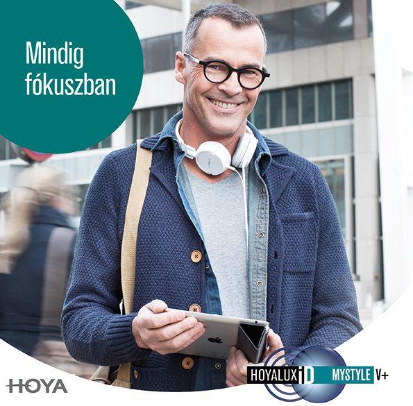 Mindig fókuszban Hoyalux iD MyStyle V+ progresszív lencsével