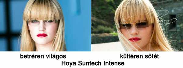 fotokromatikus lencse. A Suntech Intense szemüveglencsék meglepően ... bd8fb53c2c