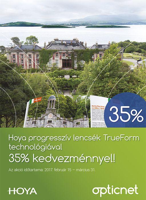 Trueform progresszív szemüveglencsék 35% kedvezménnyel