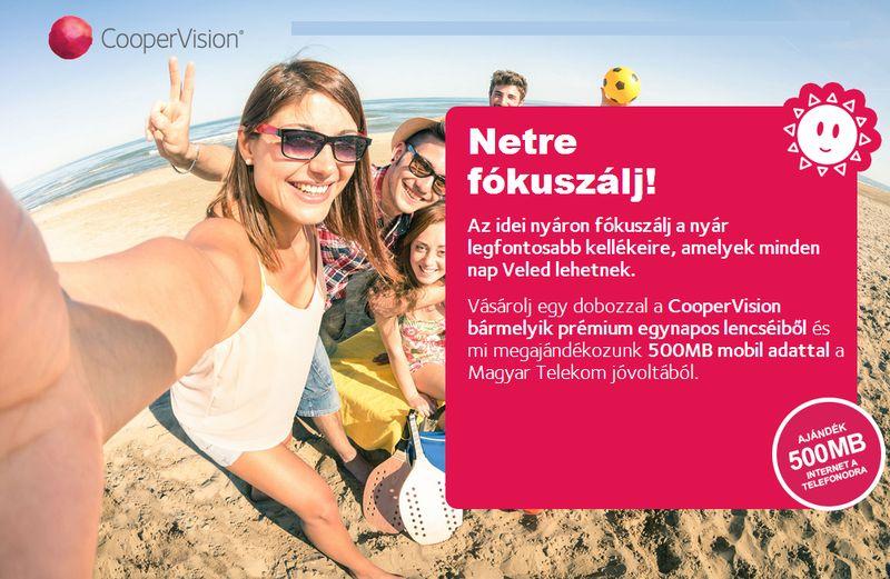 CooperVision Netre fókuszálj! kontaktlencse akció