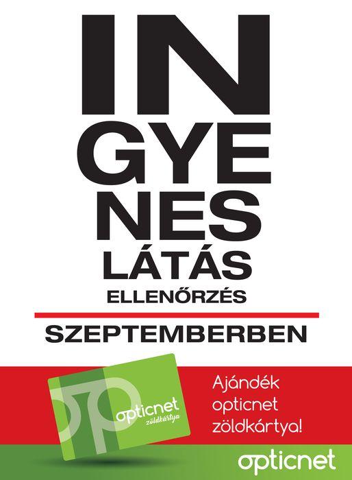 Ingyenes látásellenőrzés szeptemberben, októberben