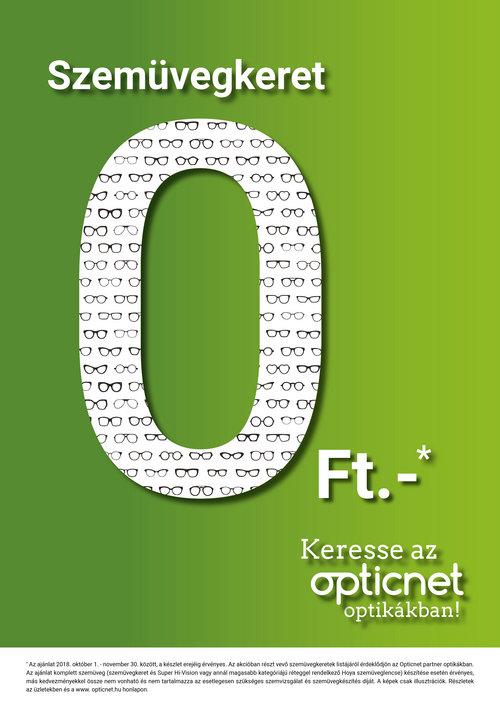 Szemüvegkeret 0Ft-os akció