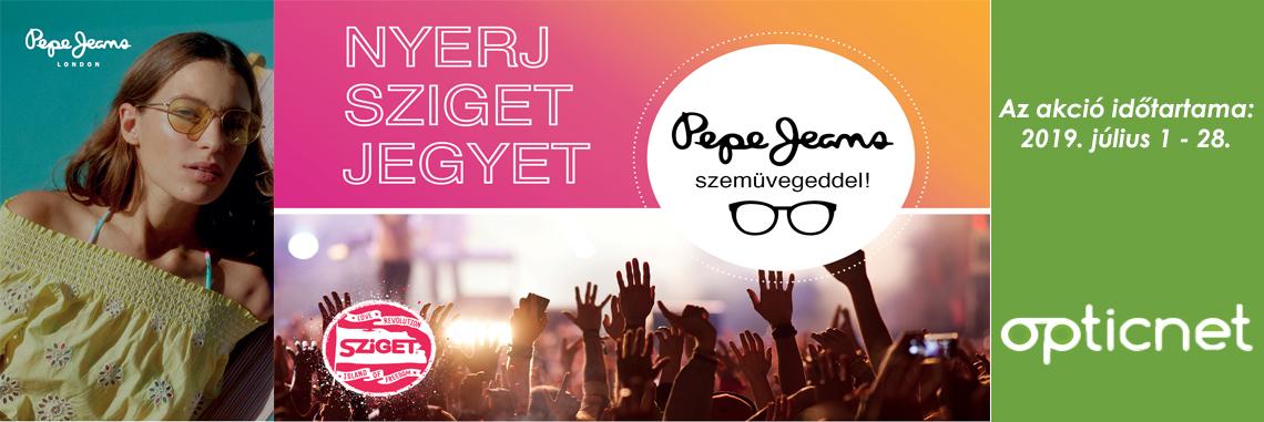 Nyerj Sziget jegyet Pepe Jeans szemüvegeddel!