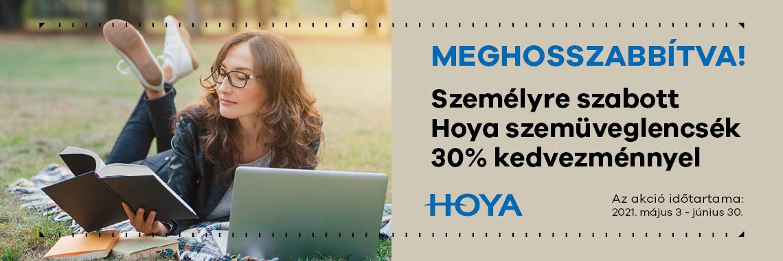 Hoya személyre szabott szemüveglencséi 30% kedvezménnyel - meghosszabbítva