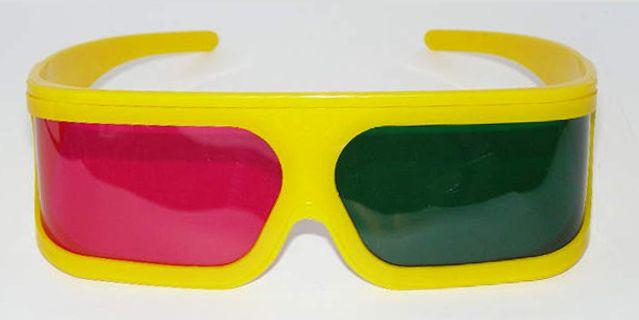 magenta+zöld 3D szemüveg