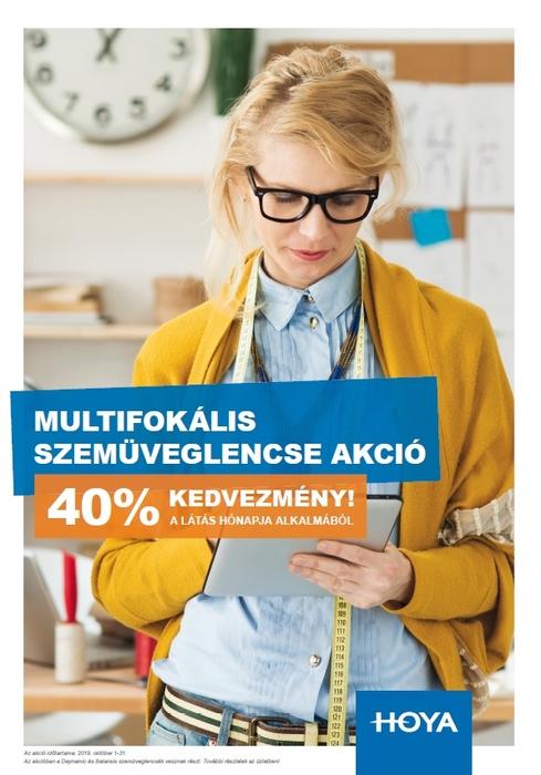 Látás hónapja alkalmából multifokális szemüveglencsék 40% kedvezménnyel