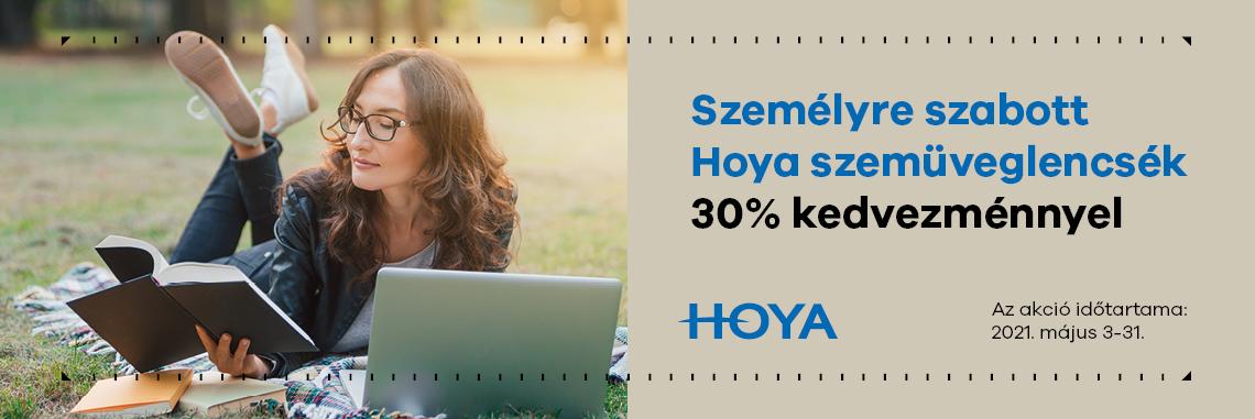 Hoya személyre szabott szemüveglencséi 30% kedvezménnyel